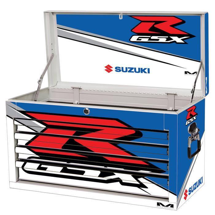 SUZUKI GSX-R OR TEAM SUZUKI M80 RACE SERIES 4 DRAWER TOOL BOX