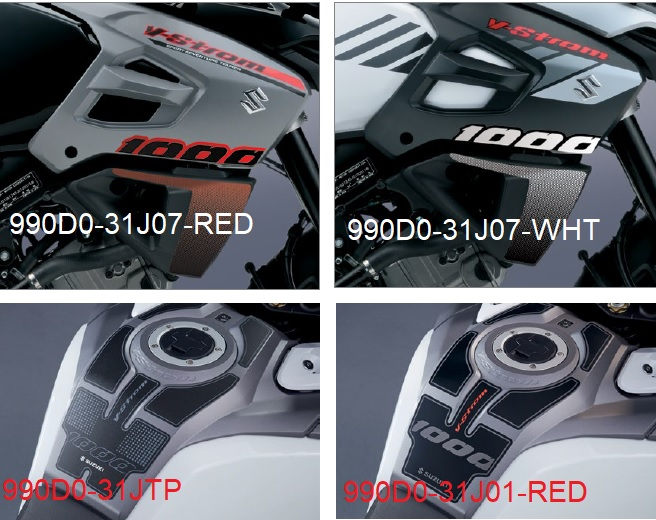 DECAL SETS AND TANK PROTECTION DL1000 2014-19