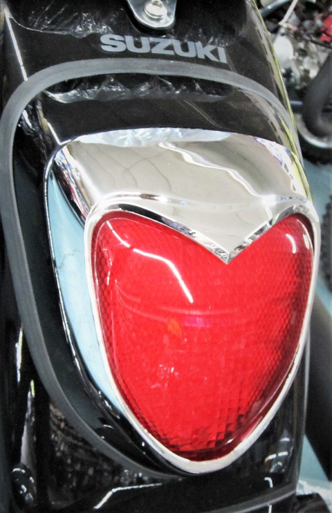 SUZUKI C50 2009-20 REAR BRAKE LIGHT COVER CHROME