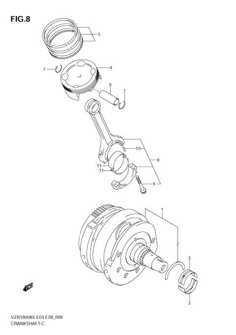 CRANKSHAFT M109R 2006-09