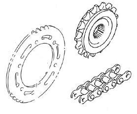 SPROCKETS CHAIN DRZ400S 2004-19