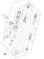 FRONT DAMPER (FORK) PARTS GSX650F 2008-09