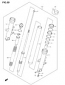 FORK REPLACMENT PARTS SV1000/S 2003-04