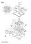 REAR CYLINDER HEAD DL650/A 2007-11