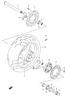 REAR WHEEL (RIM) PARTS GSXR750 2000-03