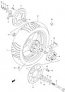 REAR WHEEL PARTS SV650/S 1999-2002