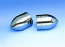 SHOW CHROME BULLET FORK COVERS VL800 C50 2001-11