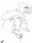FRONT FENDER MOUNTING HARDWARE DL1000 2014-19