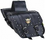 Willie & Max Compact Studded Slant Saddlebag