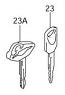 KEY BLANK C90 2005-09 M109 2006-19