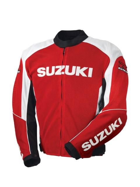 SUZUKI GSXR MESH TEXTILE JACKET RED