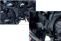 BLACK REAR SETS SV650 2017-20