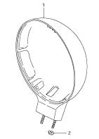 HEAD LAMP HOUSING S40 2005-18
