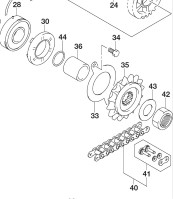 FRONT SPROCKET CHAIN GSX250R 2018
