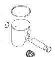 TOP END PISTON KIT RM125 1992-03