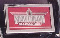 CHROME LICENSE PLATE HOLDER