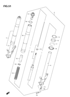 FRONT DAMPER ( FORK ) REPLACEMENT PARTS GSX1300 2004-07