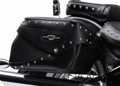Rigid Mount Deluxe Leather Saddlebags - Studded C50 --CLOSEOUT---