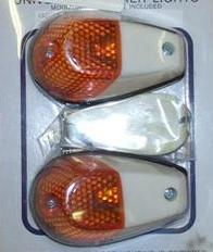 FLUSH MOUNT MARKER LIGHTS K&S WHITE