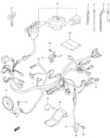 wiring harness switch Suzuki LT80 Parts Diagram