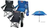 FOLDING CHAIRS AND UMBRELLAS