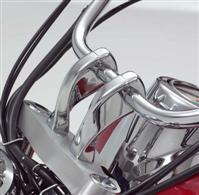 "SHOW CHROME 4"" TALL TWISTED RISERS VL800 / C50/T ALL YEARS"