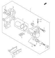 Rear Brake Caliper Piston Kit /& Seals for Suzuki GSXR750 GSX-R 750 K 2006-2010