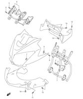 COWLING BODY INSTALLATION PARTS DL650 2007-11