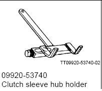 CLUTCH SLEEVE HOLDER 09920-53740