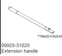 EXTENSION HANDLE 09920-31020