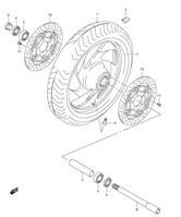 FRONT WHEEL ( RIM ) PARTS VZ1500 M90 2009-18