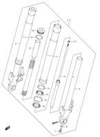 FRONT DAMPER ( FORK ) PARTS VZ1500 M90 2009