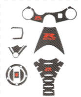 CARBON FIBER OR CHROME TRIM PACKAGE GSXR600 GSXR750 2006-10