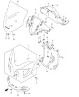 COWLING BODY INSTALLATION PARTS DL650 2012-16