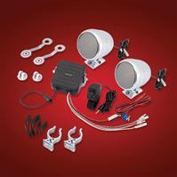 """MOTORCYCLE SOUND SYSTEM FOR 7/8"""" and 1"""" HANDLEBARS"""