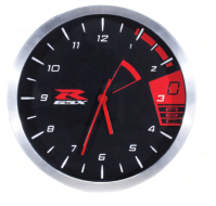 GSX-R REDLINE CLOCK BRUSH METAL