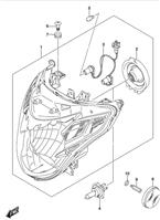 HEADLAMP GSX-S750 2015-19