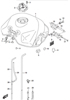 FUEL TANK MOUNTING HARDWARE GSX-S750 2015-16