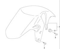 FRONT FENDER GSX-S750 2015-20