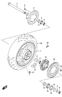 REAR WHEEL REPLACEMENT PARTS GSX-S750 2015-16