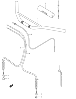 HANDLEBAR CABLES LT80 2002-06