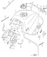FUEL TANK MOUNTING HARDWARE GSX-S 1000F 2016-18