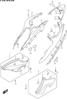 FRAME COVER MOUNTING HARDWARE GSX-S 1000F 2016-18