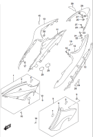 FRAME COVER MOUNTING HARDWARE GSX-S1000 2016
