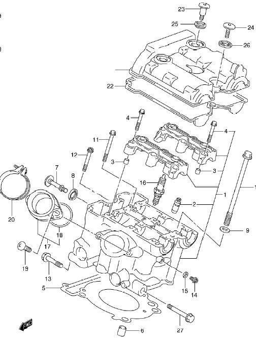 cylinder gaskets sv650 rh oneidasuzuki com SV1000 Engine suzuki sv650 engine diagram
