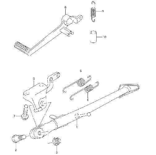 GSXR 750 2006-2008 Frame Fitting Stay Footrests Step Bracket Assembly Krator Front Foot Rests Assembly Kit for Suzuki GSXR 600 2006-2010