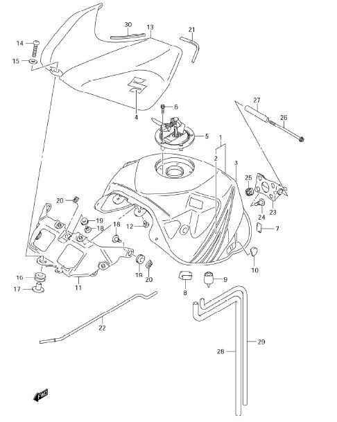 Fuel Tank Mounting Parts