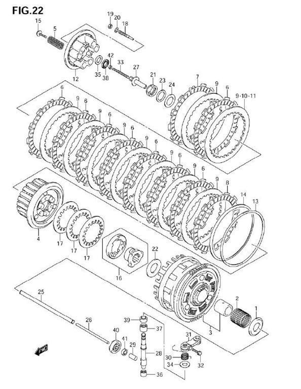 gsx r 1000 2005 06 oem 05 Gsxr 600 Motor clutch gsxr 1000 2005 06