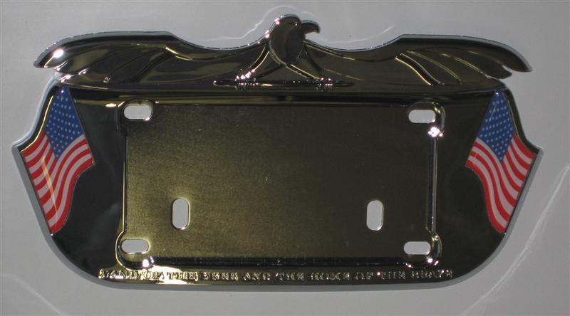kuryakyn lone eagle license plate frame