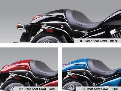 Suzuki 45500-40810-YVB Black Rear Seat Cowl
